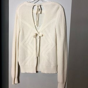 Honey Belle Sweaters - Backless ivory sweater